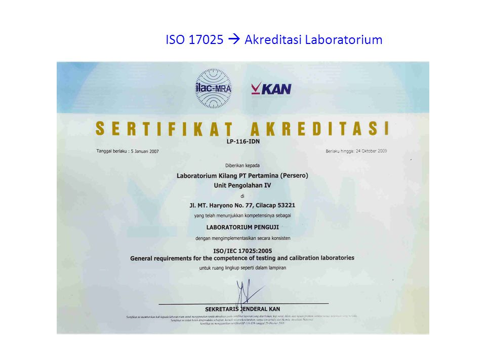 ISO 17025  Akreditasi Laboratorium