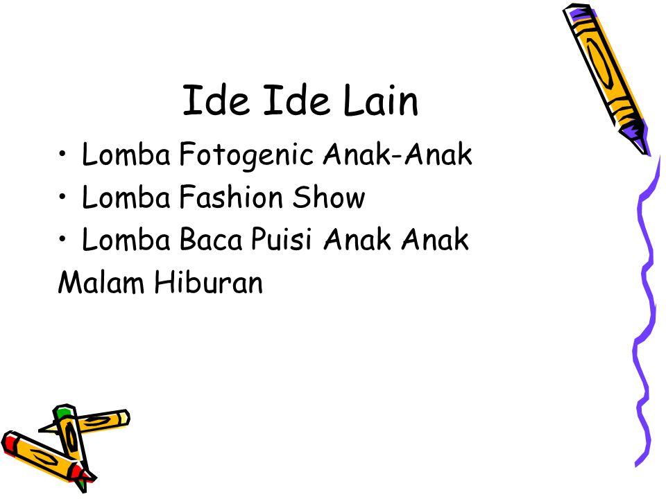 Ide Ide Lain Lomba Fotogenic Anak-Anak Lomba Fashion Show