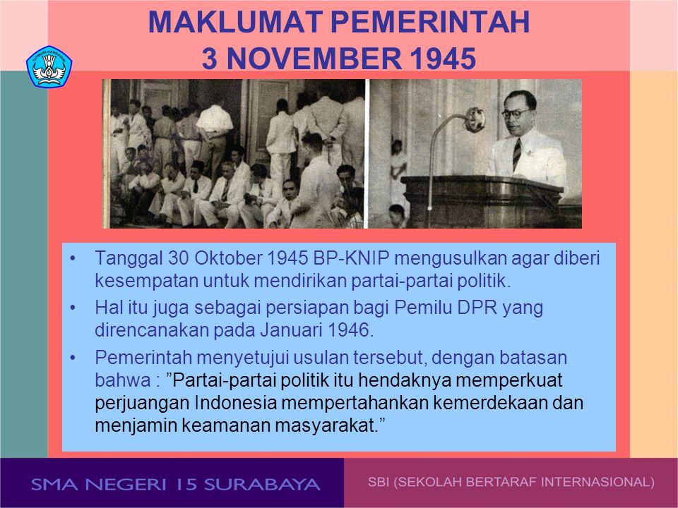 MAKLUMAT PEMERINTAH 3 NOVEMBER 1945