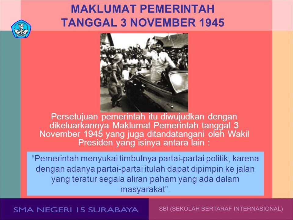 MAKLUMAT PEMERINTAH TANGGAL 3 NOVEMBER 1945