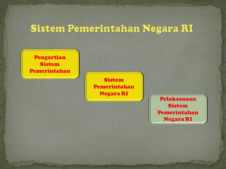 Sistem Pemerintahan Negara RI