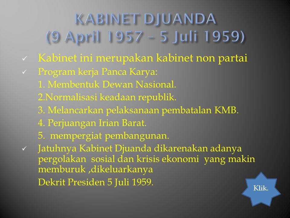 KABINET DJUANDA (9 April 1957 – 5 Juli 1959)