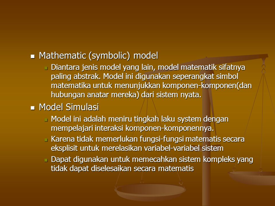 Mathematic (symbolic) model
