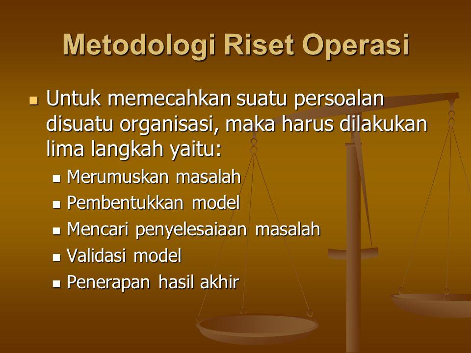 Metodologi Riset Operasi