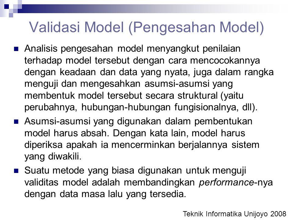 Validasi Model (Pengesahan Model)
