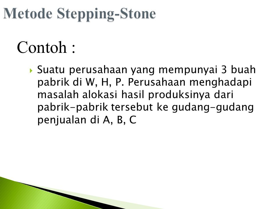 Metode Stepping-Stone