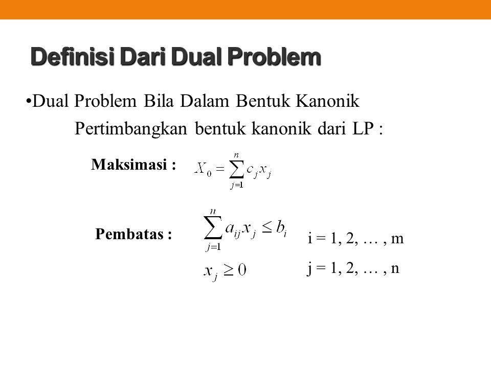 Definisi Dari Dual Problem