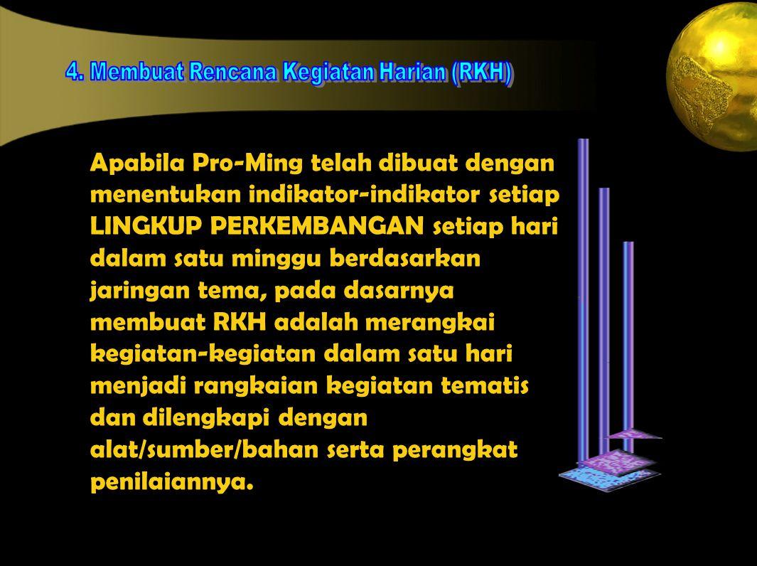 4. Membuat Rencana Kegiatan Harian (RKH)