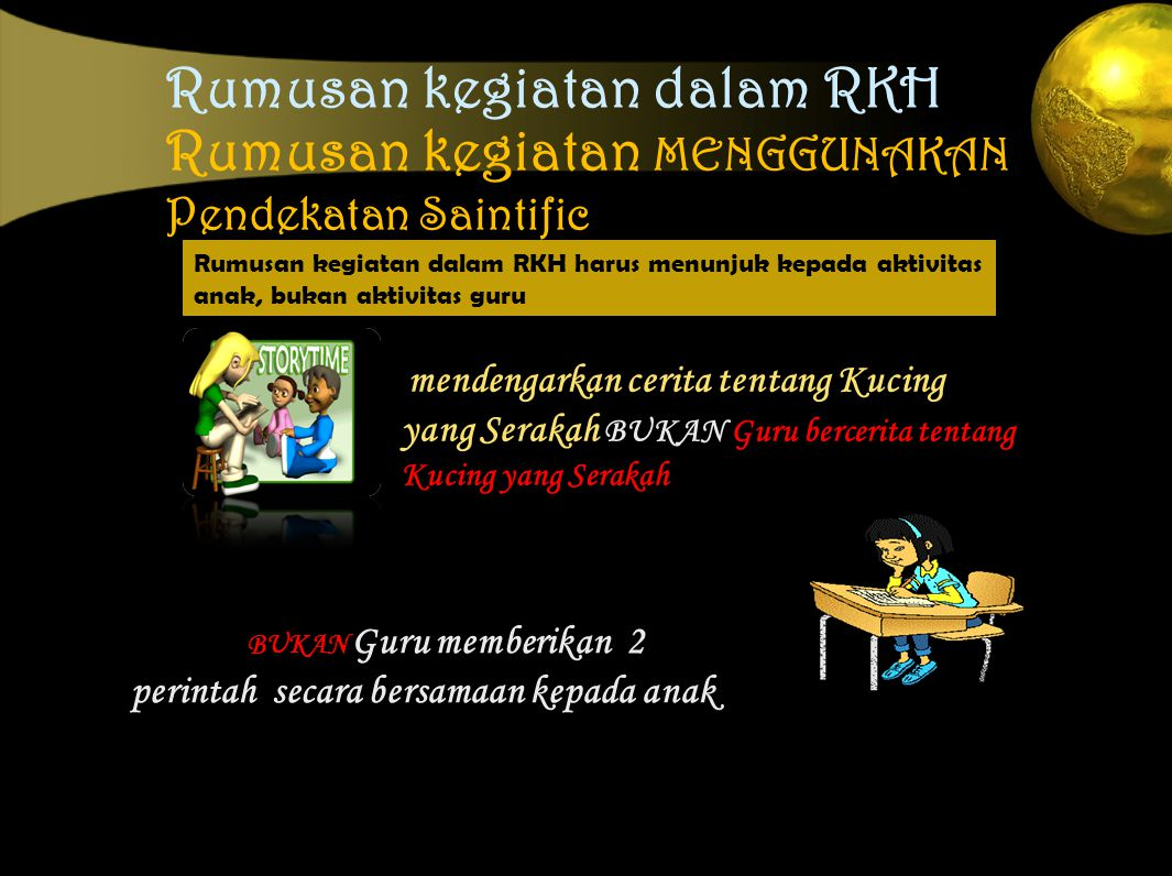 Rumusan kegiatan dalam RKH