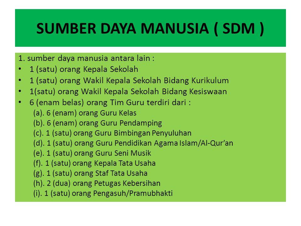 SUMBER DAYA MANUSIA ( SDM )