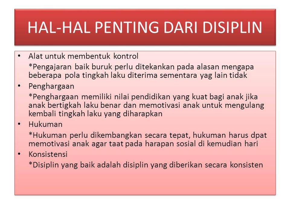 HAL-HAL PENTING DARI DISIPLIN
