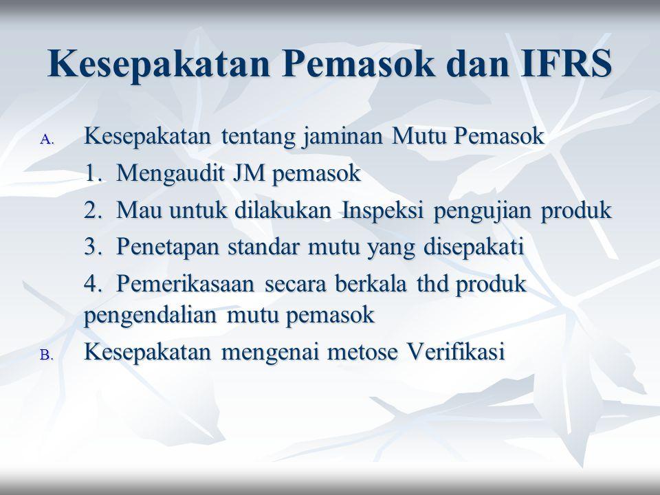 Kesepakatan Pemasok dan IFRS