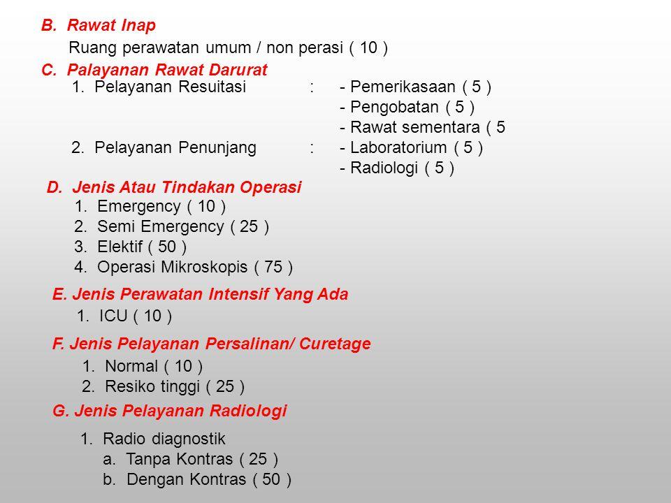 Ruang perawatan umum / non perasi ( 10 )