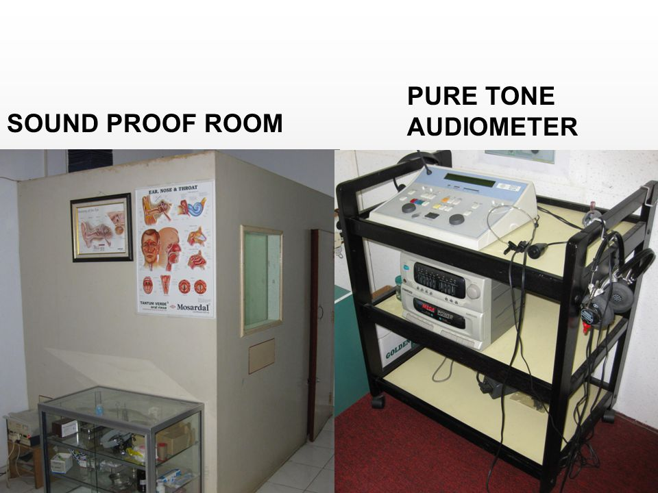 PURE TONE AUDIOMETER SOUND PROOF ROOM