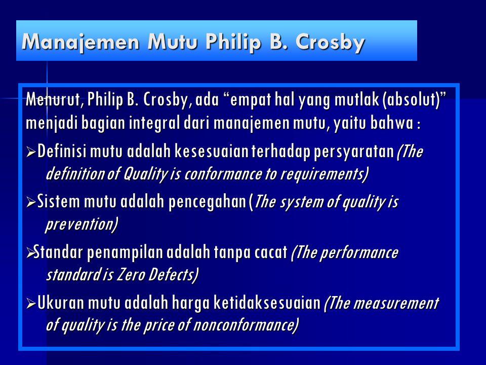 Manajemen Mutu Philip B. Crosby