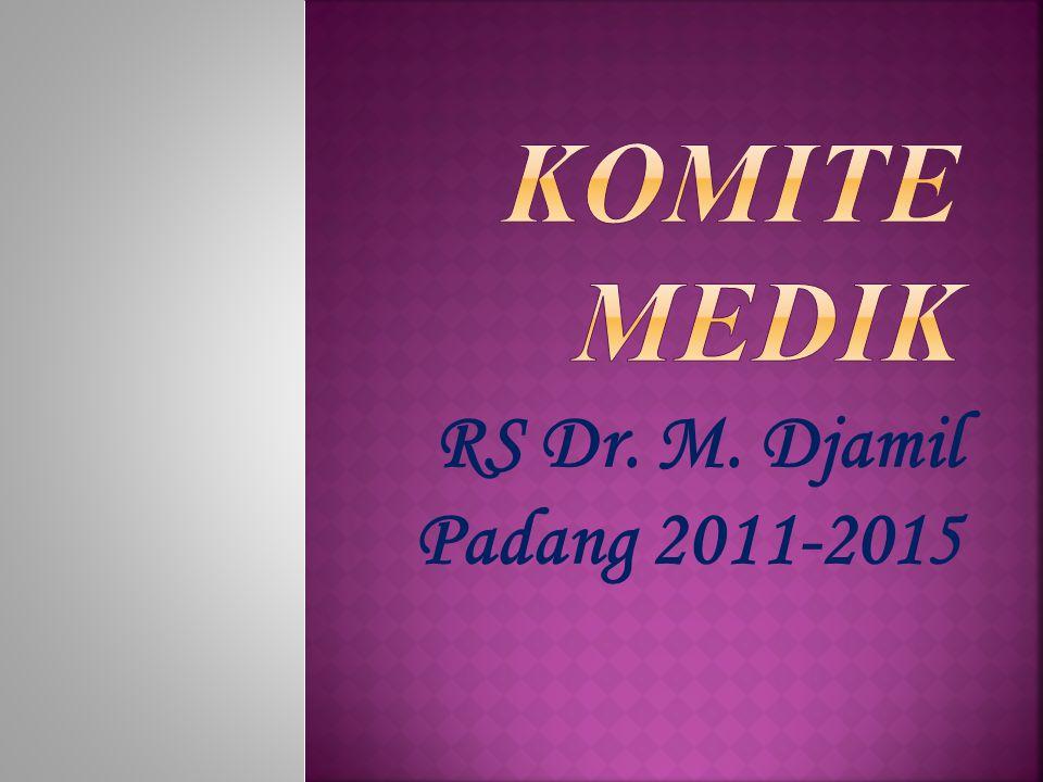 Komite Medik RS Dr. M. Djamil Padang 2011-2015