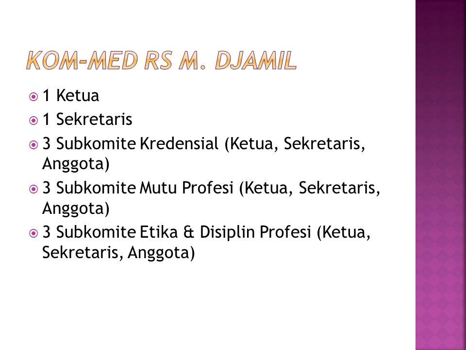 Kom-Med RS M. Djamil 1 Ketua 1 Sekretaris