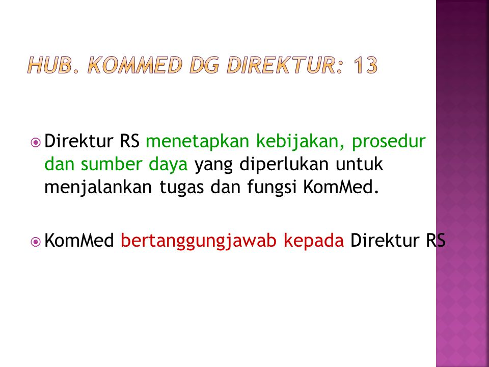 Hub. KomMed dg Direktur: 13
