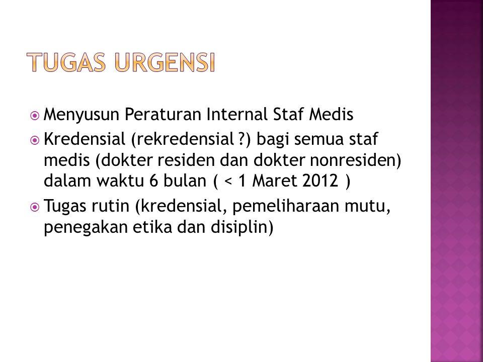 Tugas urgensi Menyusun Peraturan Internal Staf Medis