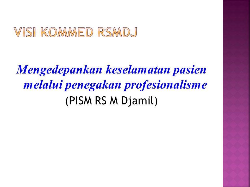 Mengedepankan keselamatan pasien melalui penegakan profesionalisme