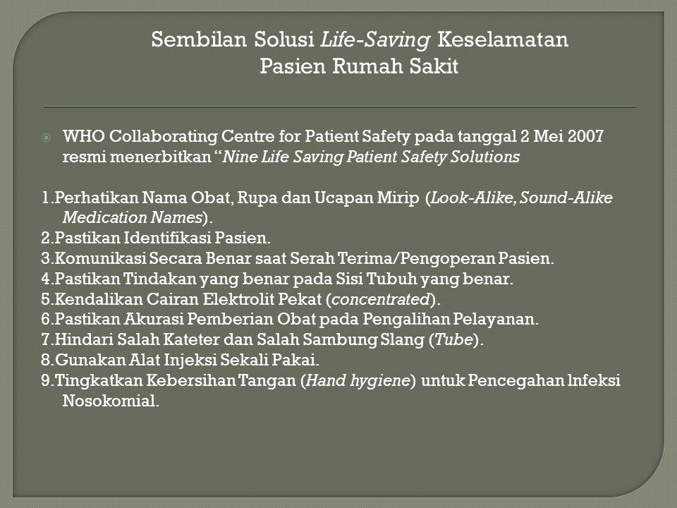 Sembilan Solusi Life-Saving Keselamatan