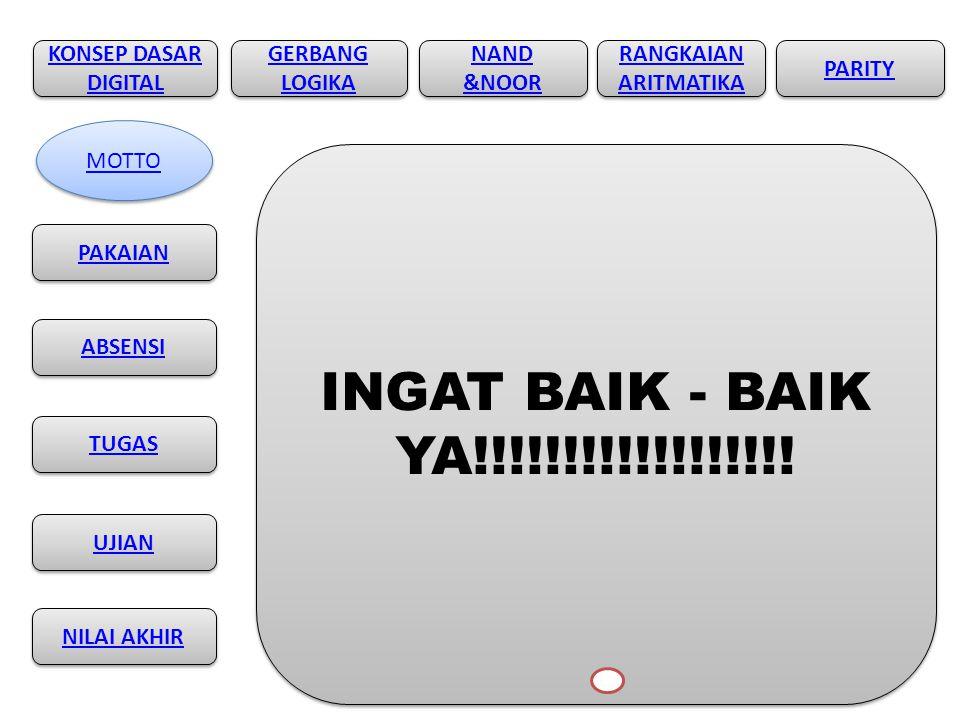 INGAT BAIK - BAIK YA!!!!!!!!!!!!!!!!!! KONSEP DASAR DIGITAL