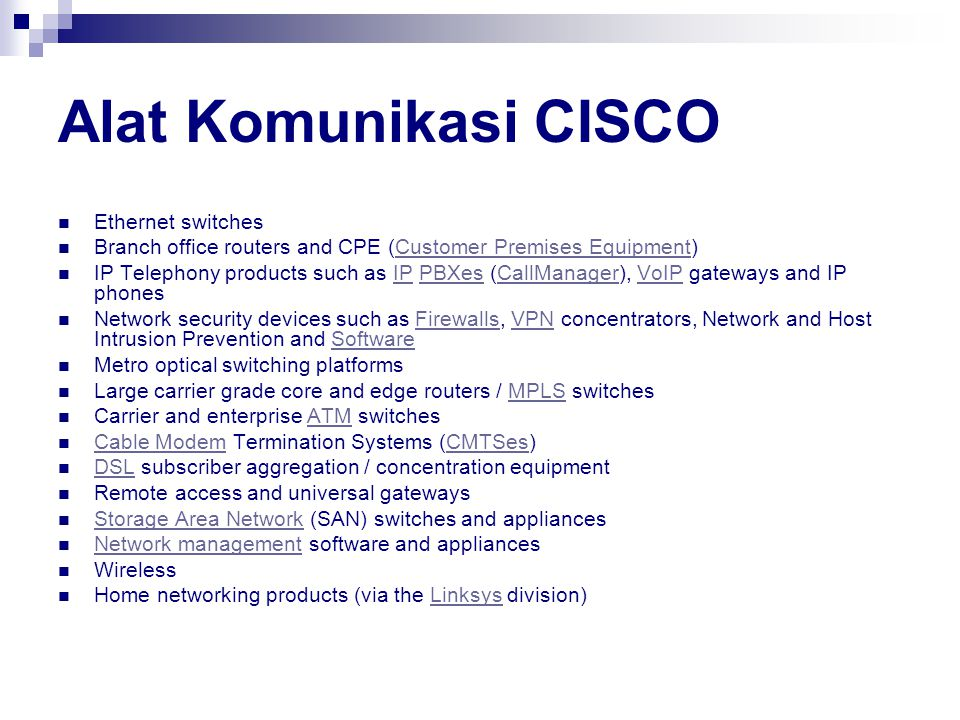 Alat Komunikasi CISCO Ethernet switches
