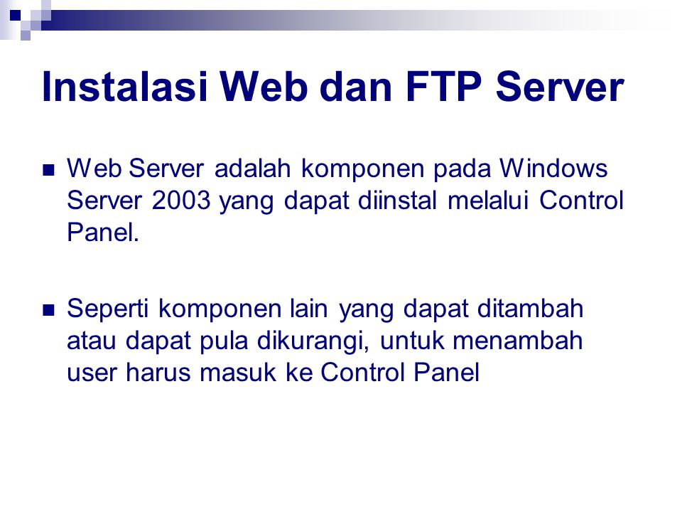 Instalasi Web dan FTP Server
