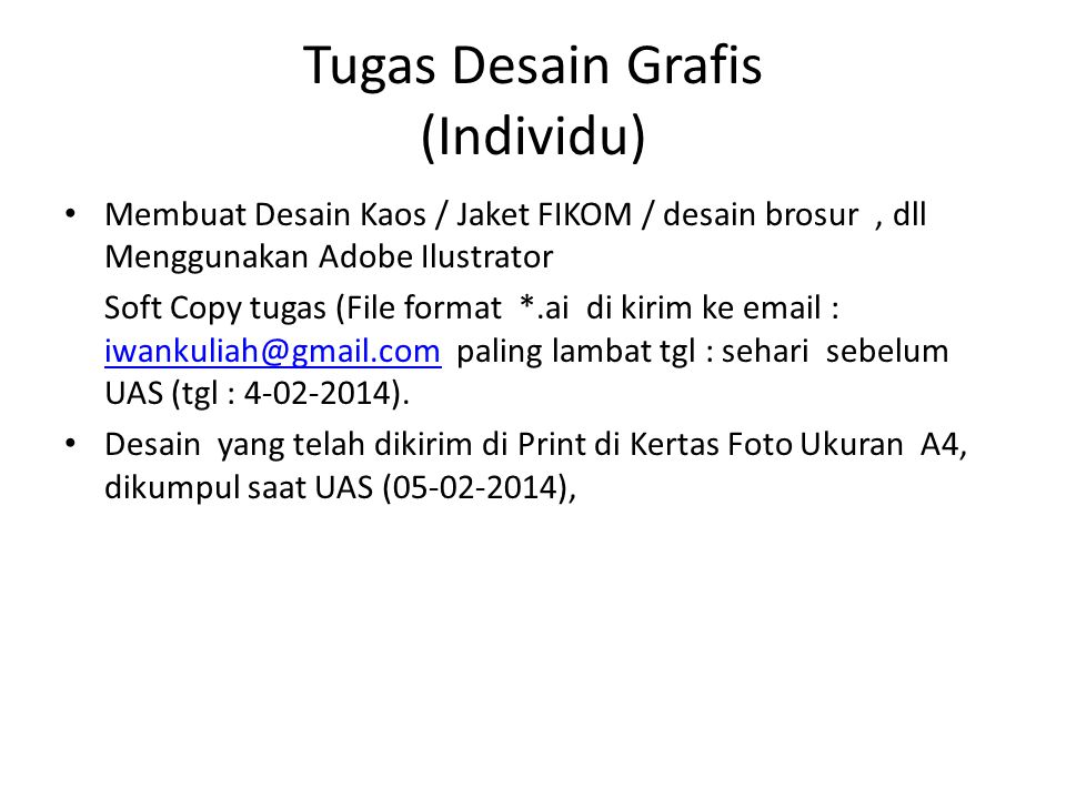 Tugas Desain Grafis (Individu)