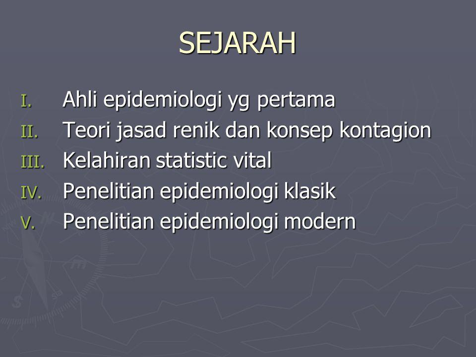 SEJARAH Ahli epidemiologi yg pertama