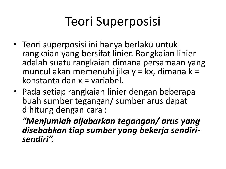 Teori Superposisi