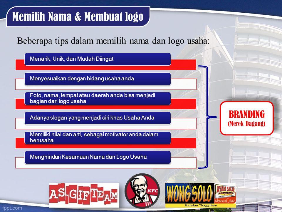 Memilih Nama & Membuat logo
