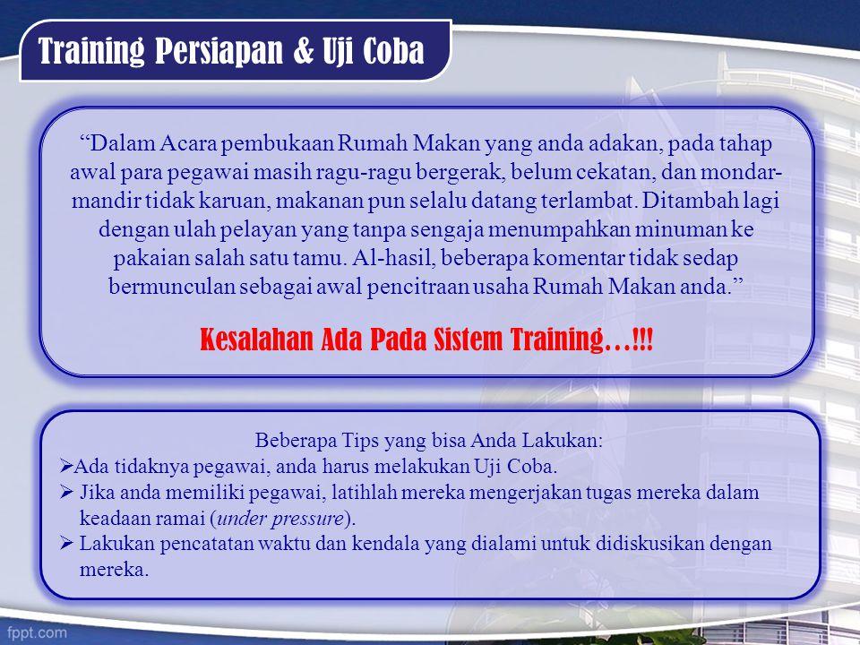 Training Persiapan & Uji Coba