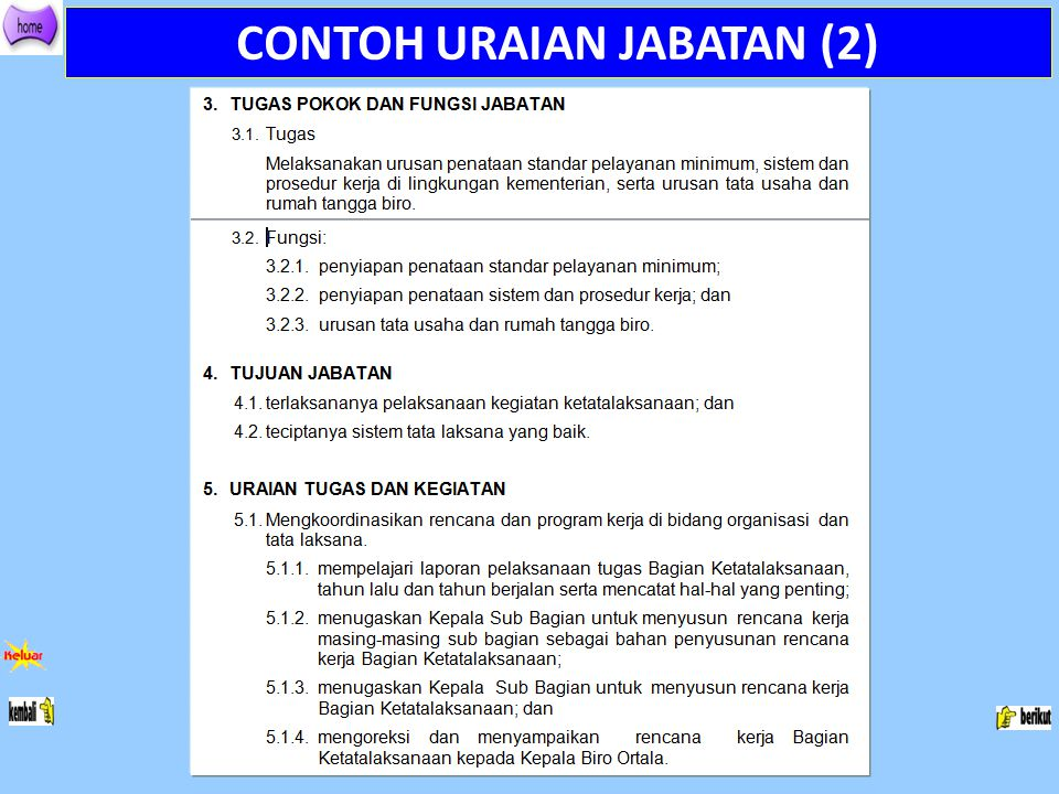 CONTOH URAIAN JABATAN (2)