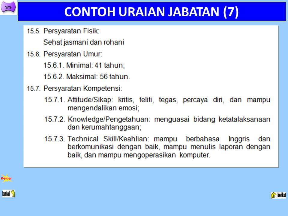 CONTOH URAIAN JABATAN (7)
