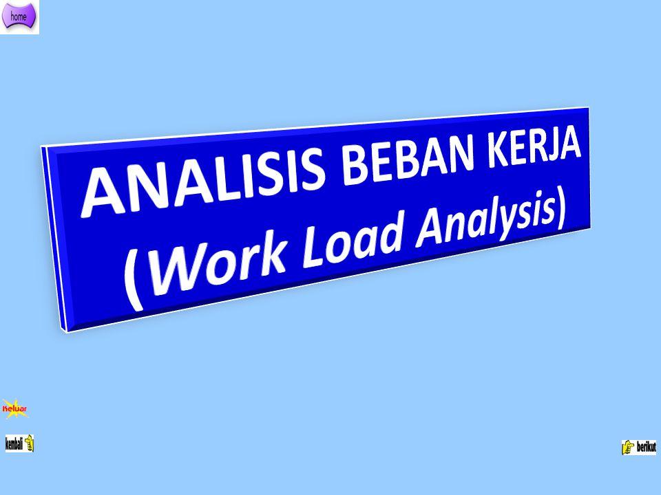 ANALISIS BEBAN KERJA (Work Load Analysis)