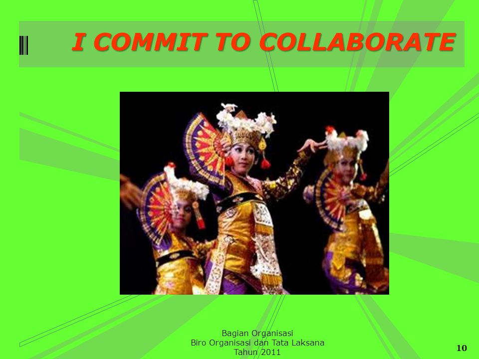 I COMMIT TO COLLABORATE