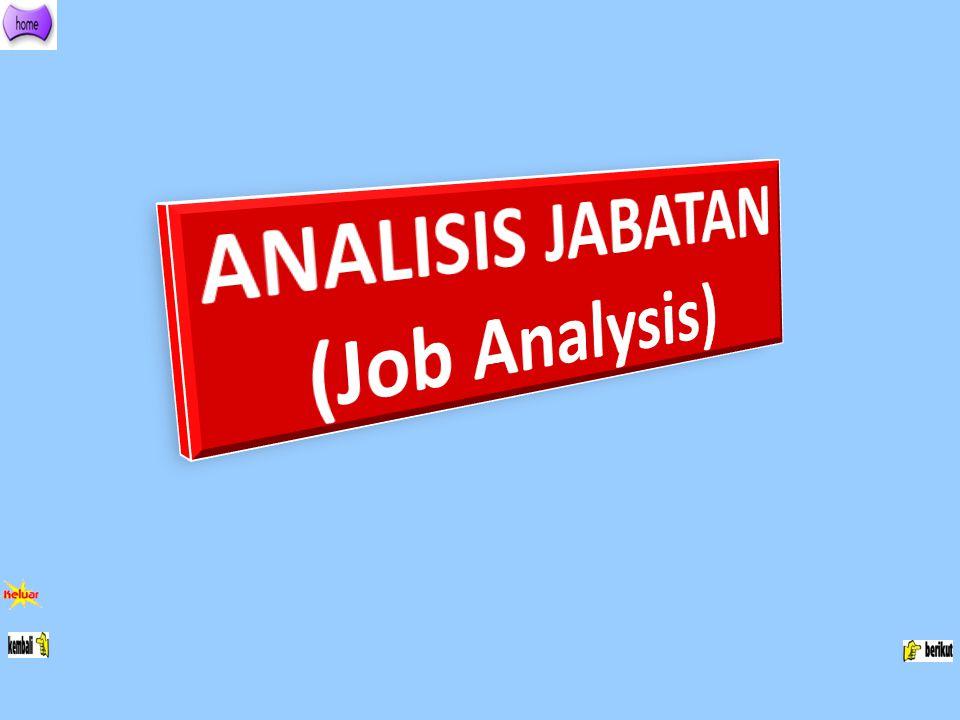 ANALISIS JABATAN (Job Analysis)
