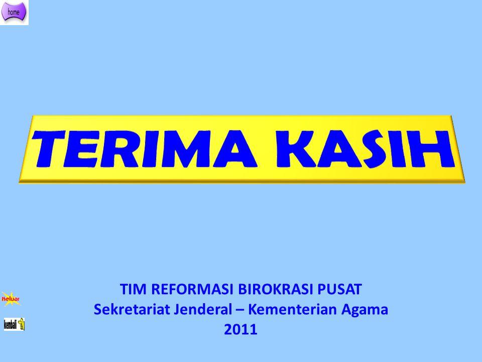 TIM REFORMASI BIROKRASI PUSAT Sekretariat Jenderal – Kementerian Agama