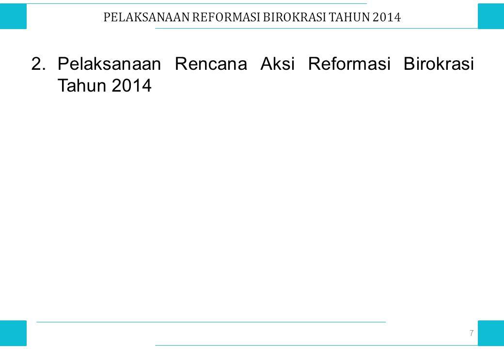 PELAKSANAAN REFORMASI BIROKRASI TAHUN 2014