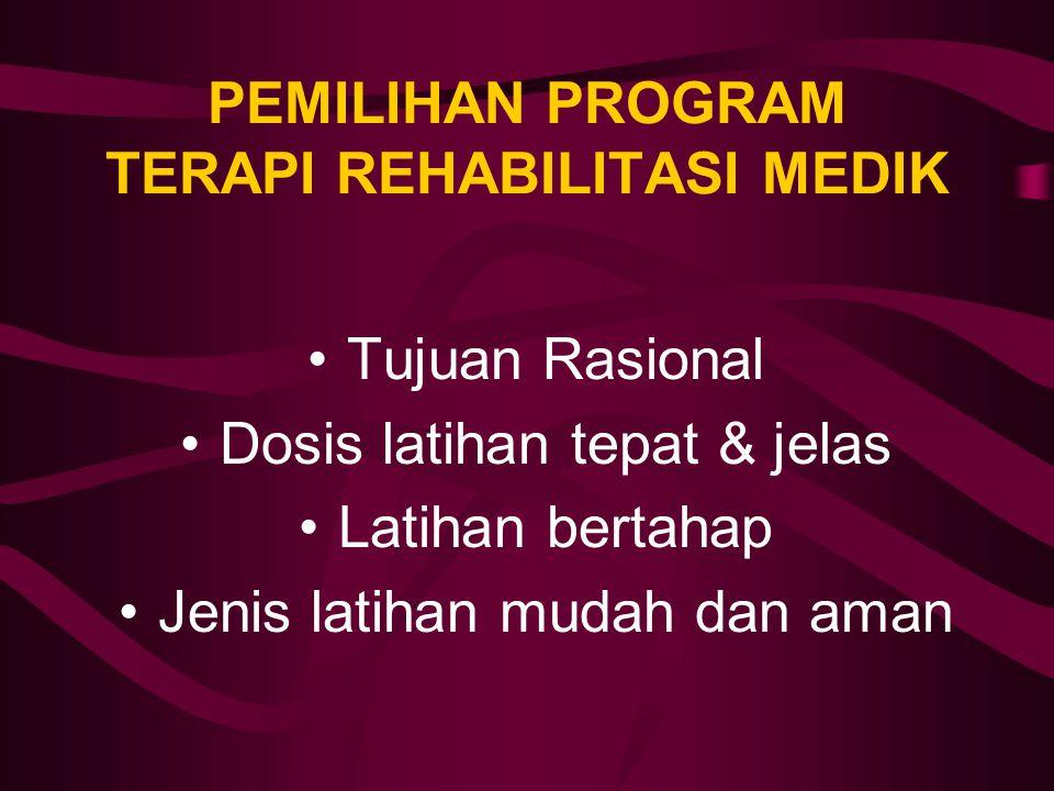 PEMILIHAN PROGRAM TERAPI REHABILITASI MEDIK