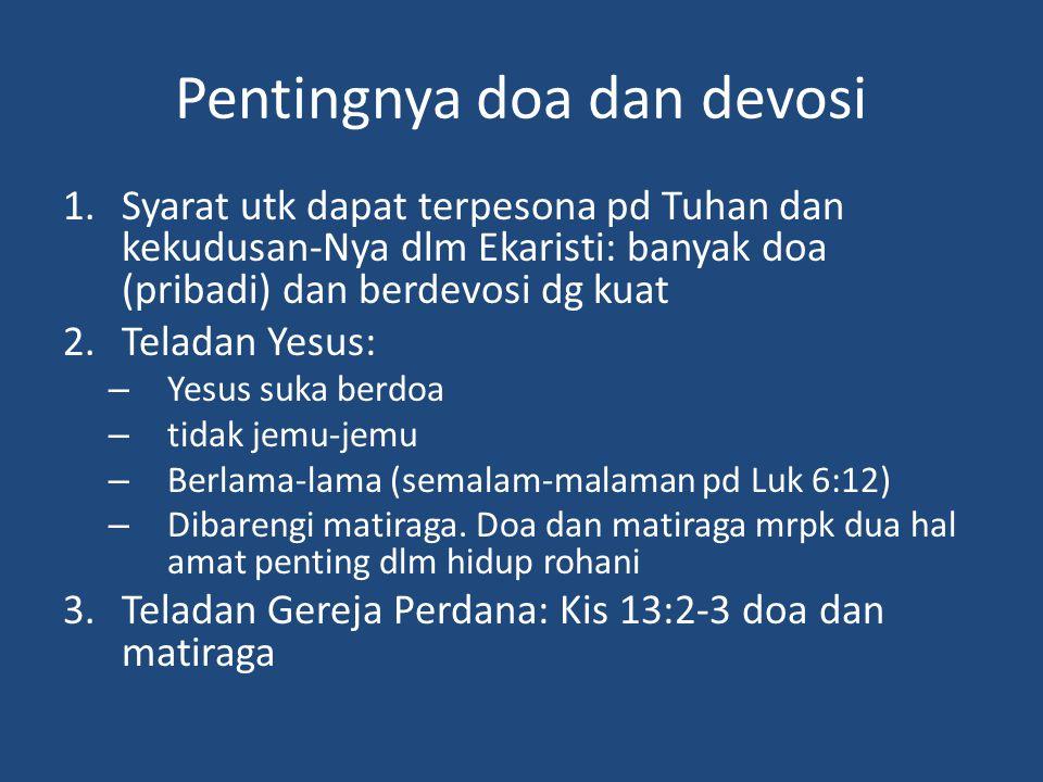 Pentingnya doa dan devosi