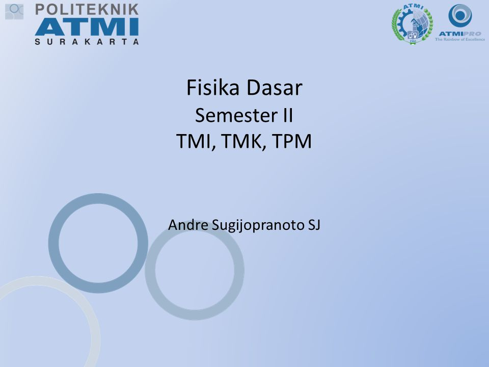 Fisika Dasar Semester II TMI, TMK, TPM