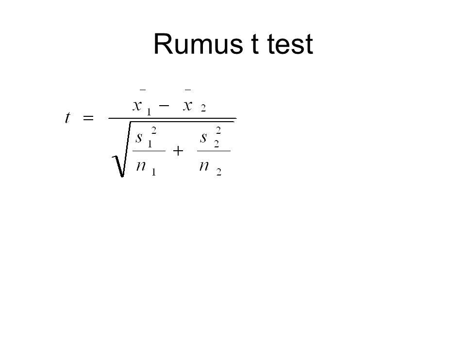 Rumus t test