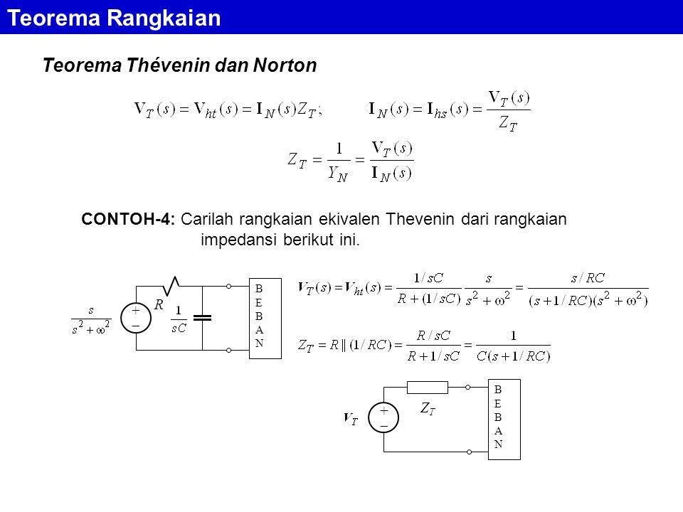 Teorema Rangkaian Teorema Thévenin dan Norton