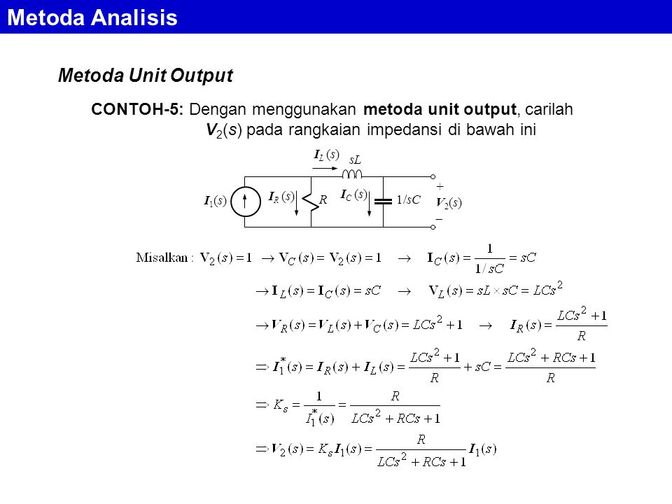 Metoda Analisis Metoda Unit Output
