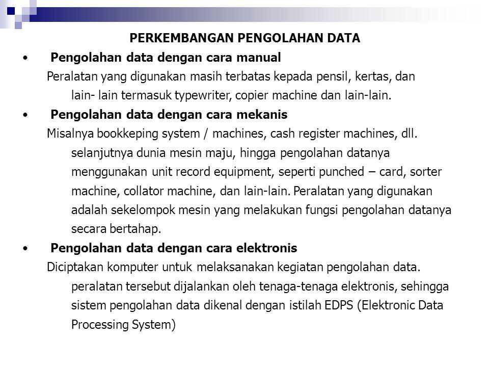 PERKEMBANGAN PENGOLAHAN DATA