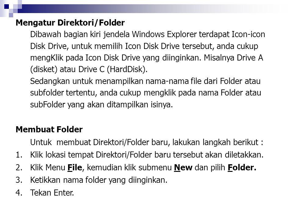Mengatur Direktori/Folder