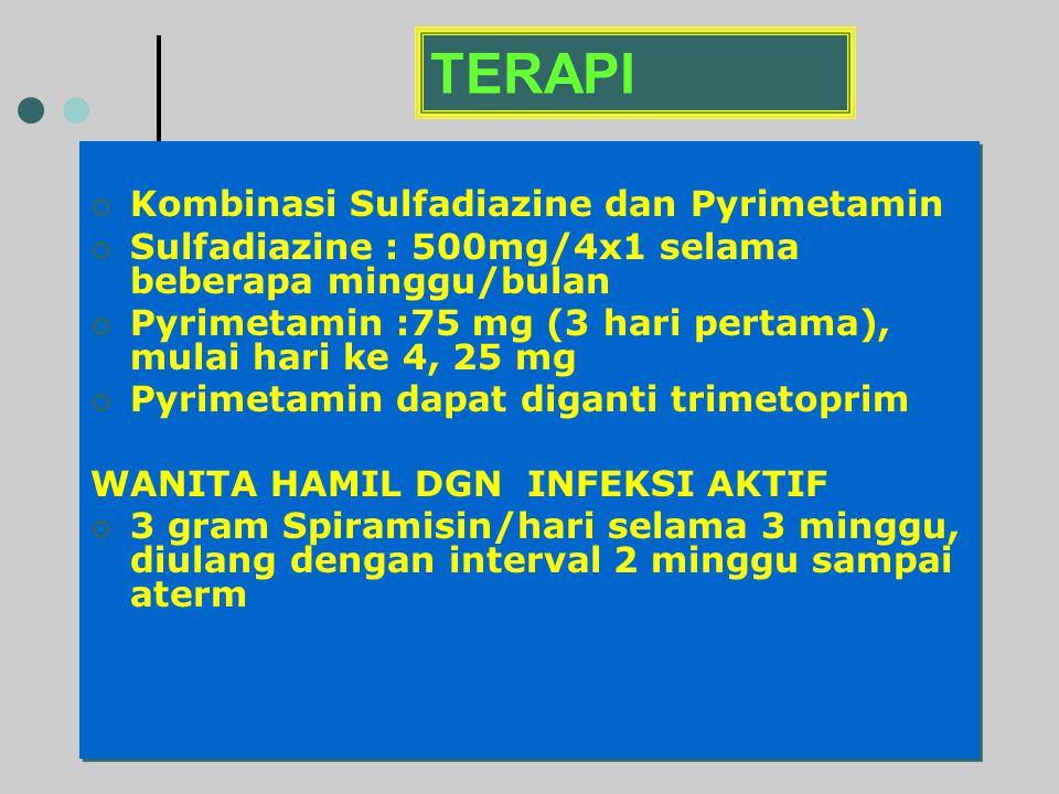 TERAPI Kombinasi Sulfadiazine dan Pyrimetamin
