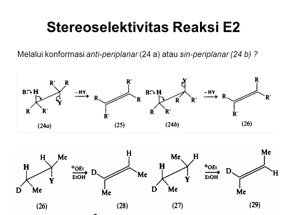 Stereoselektivitas Reaksi E2